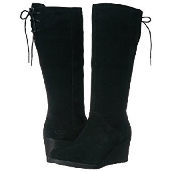 aea6287343f ♥️♥️UGG♥️♥️ Dawna black wedge boot size 5 1/2 NWT
